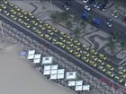 Protesto de taxistas contra o Uber congestiona as principais vias do RJ