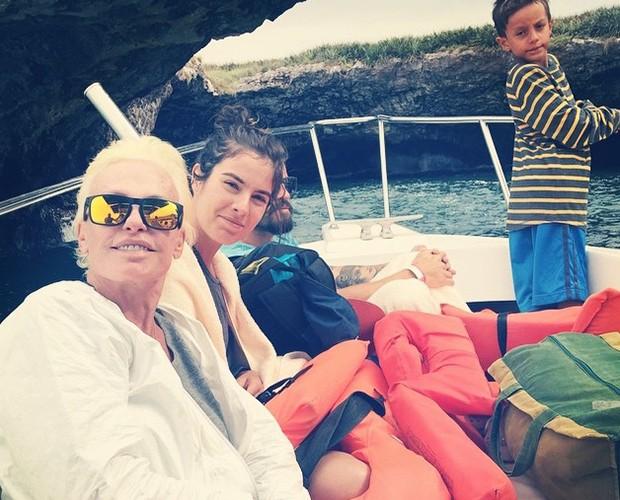 Ana Maria Braga descansou ao lado da família no México (Foto: Arquivo Pessoal)