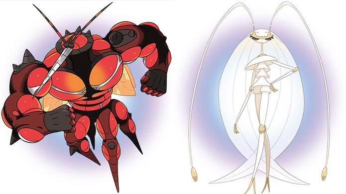 A UB-02 Absorption (esquerda) será exclusiva de Pokémon Sun enquanto a UB-02 Beauty (direita) só estará em Pokémon Moon (Foto: Reprodução/Polygon)