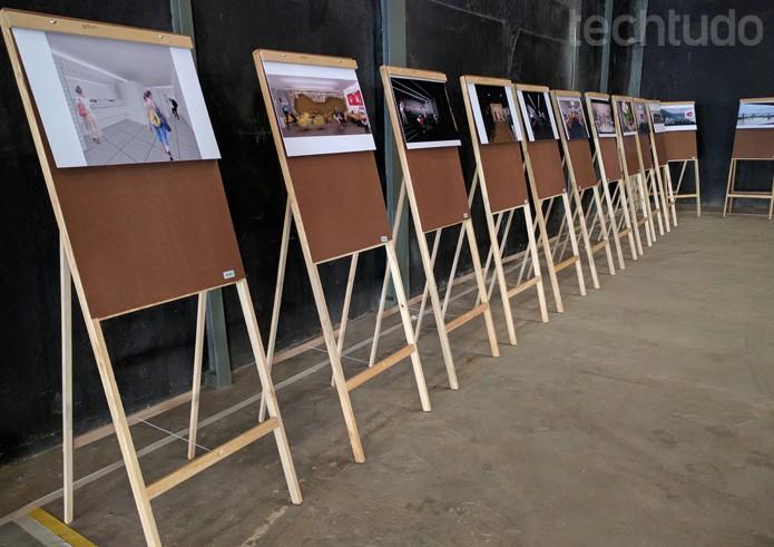O projeto de como vai ficar o local está exposto para os visitantes, são dois andares de infraestrutura para ensino, produção de vídeos e encontros de blogueiros (Foto: Melissa Cruz / TechTudo)