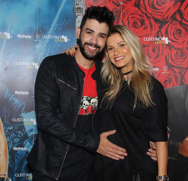 Gusttavo Lima e Andressa Suita (Foto: Thiago Duran/AgNews)