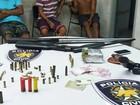 Três homens são presos e armas apreendidas em Macaíba