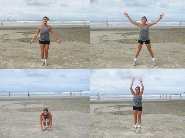Exercícios aeróbicos indicados pela profissional (Foto: Mariane Rossi/G1)