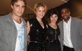 Reta final: Leandra Leal e Thiago Rodrigues se divertiram na gravação de Insensato
