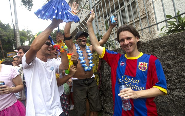 sósia lionel messi carnaval rio de janeiro (Foto: Agência AP)