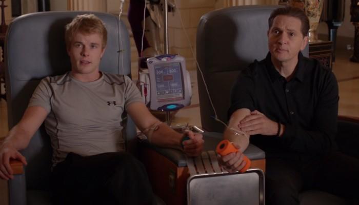Parece ficção como esta imagem da série 'Sillicon Valley', mas não é: uma startup americana quer testar os efeitos do sangue de jovens em pessoas mais velhas (Foto: Divulgação )