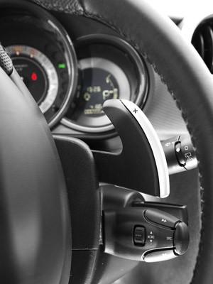 Borboletas no volante são usadas para as trocas no câmbio automático sequencial e automatizados (Foto: Divulgação)