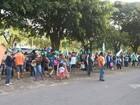 Trabalhadores rurais protestam por reforma agrária em frente à Terracap
