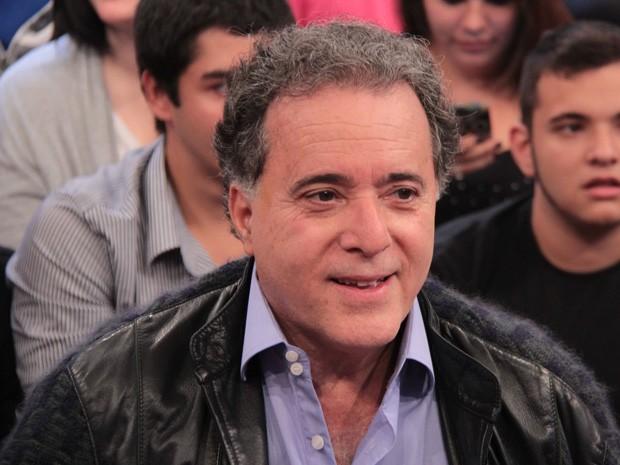 Tony Ramos participa da gravação do programa 'Altas Horas' (Foto: TV Globo/Altas Horas)