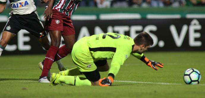 Coritiba Fluminense Júlio Cesar (Foto: Giuliano Gomes/Gazeta do Povo)