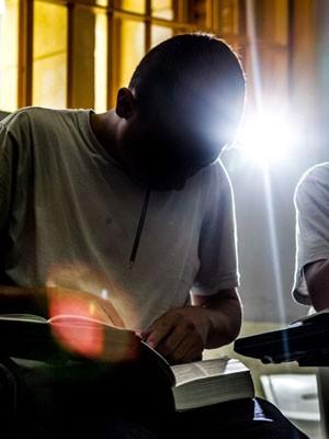 Interno da Fundação Casa durante aula (Foto: Raul Zito/G1)