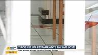 Uma pessoa é morta e quatro ficam feridas a tiros em restaurante em São José