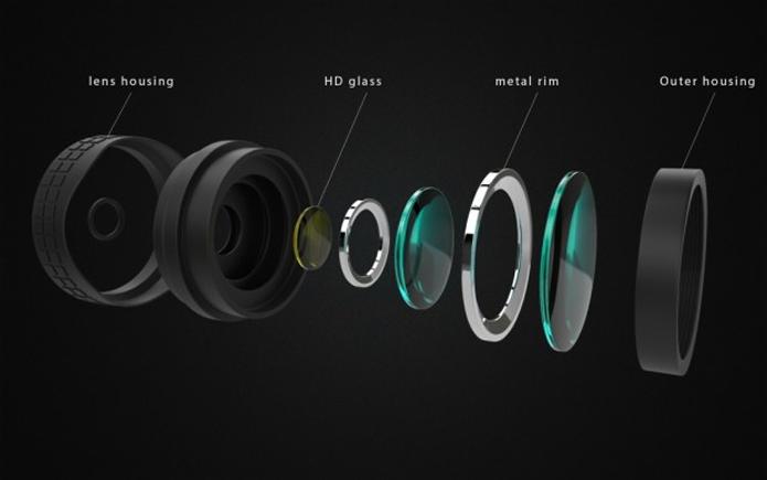 Lensta tem estrutura complexa com conjunto ótico formado por lentes de vidro e filtros (Foto: Divulgação/Lensta)
