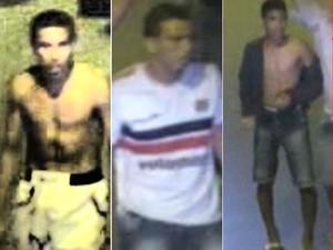 Imagens de suspeitos de confusão entre torcidas organizadas foram divulgadas nesta quarta (Foto: Divulgação / SDS)