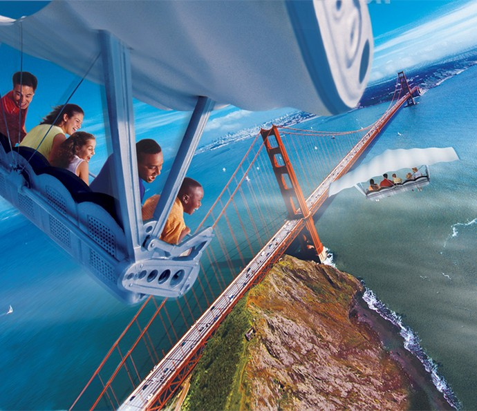 Soarin' Around the World vai levar os passageiros para visitar as paisagens mais bonitas do planeta (Foto: Walt Disney World)