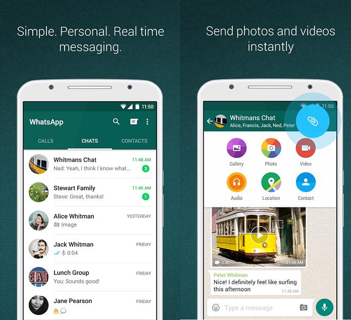 WhatsApp recebeu update no Android (Foto: Divulgação/WhatsApp)