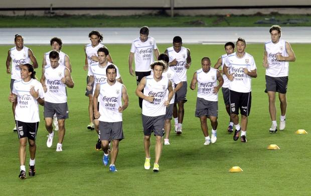 Treino seleção do Uruguai (Foto: Agência EFE)