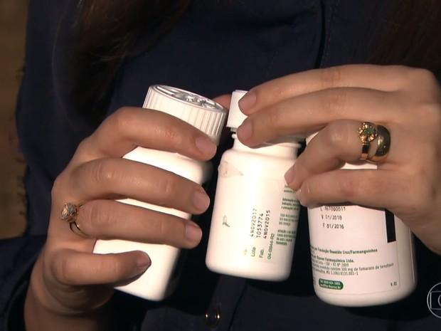 Vítima precisou tomar coquetel de remédios contra o vírus da Aids e outras doenças (Foto: TV Globo/Reprodução)