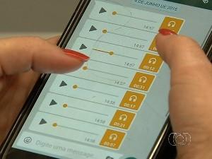 Mulher apanha do ex em delegacia ao tentar registrar queixa contra ele em Goiânia, GOiás (Foto: Reprodução/TV Anhanguera)