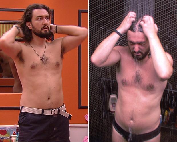 Marco quase não engordou nas três semanas de jogo: de 84,9 kg para 85,5 kg (Foto: TV Globo)