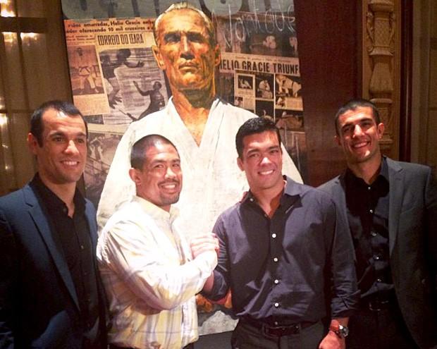 Lyoto Machida, Mark Muñoz, Ryron Gracie e Rener Gracie (Foto: Reprodução / Instagran)