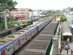 CPTM faz obras de modernização (Foto: Reprodução/TV Diário)