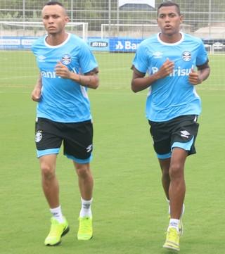 Everton Pedro Rocha Batista Kaio Grêmio  (Foto: Eduardo Moura/GloboEsporte.com)