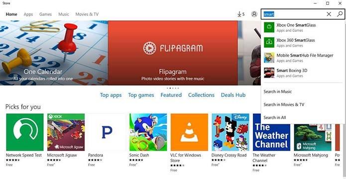 Busque pelo Smartglass do Xbox One (Foto: Reprodução/Murilo Molina)