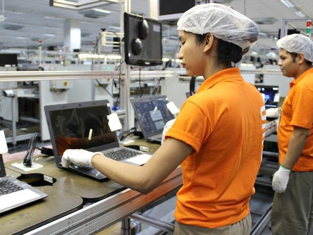Fábrica já garantiu cerca de 300 empregos em Manaus (Foto: Indiara Bessa/G1 AM)