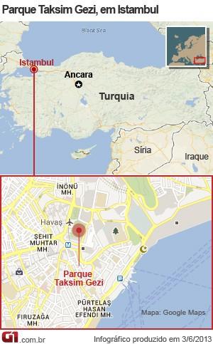 mapa protestos turquia 2 (Foto: 1)