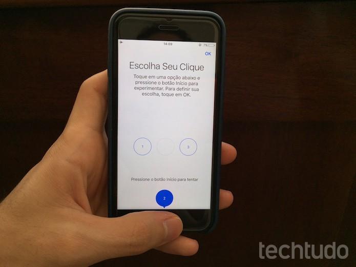 Como calibrar o botão de início no iPhone 7 e iPhone 7 Plus (Foto: Victor Teixeira/TechTudo)