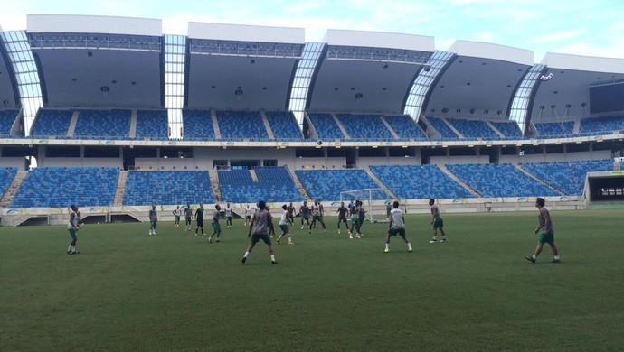 Treino Alecrim - Arena das Dunas (Foto: Augusto Gomes/GloboEsporte.com)