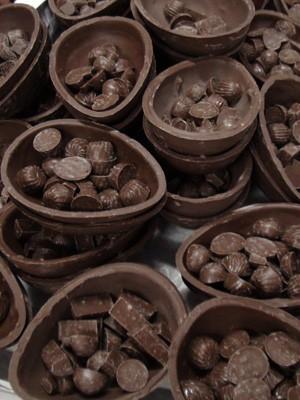 Ovos após serem desenformados (Foto: Ruan Melo/ G1)