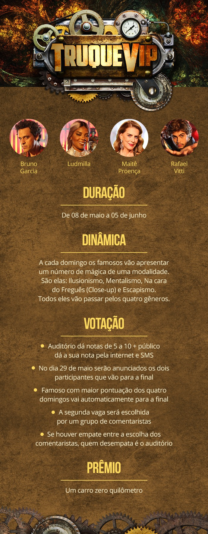 'Truque Vip' estreia dia 8 de maio (Foto: Gshow)