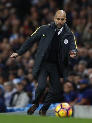 Guardiola Manchester City x Watford (Foto: Phil Noble/Reuters)