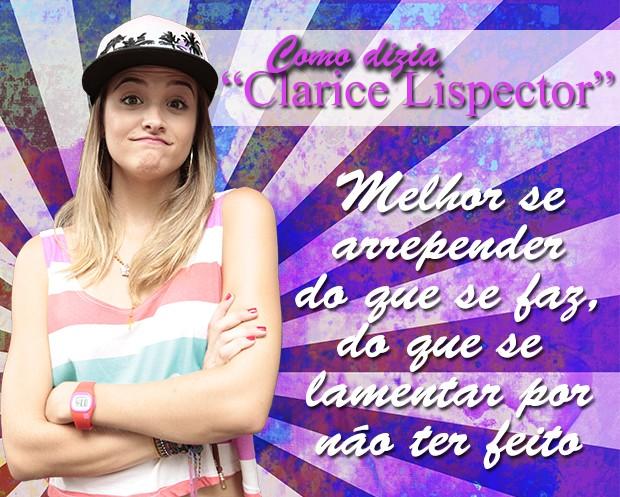 Como dizia Clarice Lispector... (Foto: Malhação / TV Globo)