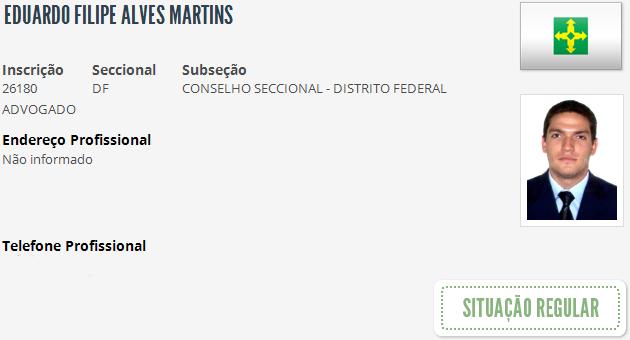 O advogado Eduardo Martins, filho do ministro do STJ Humberto Martins (Foto: Reprodução)