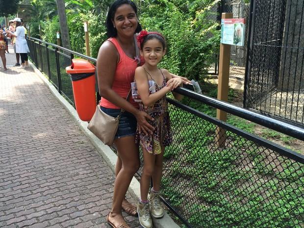 Em ação promocional pelo Dia Internacional da Mulher, todas as mulheres que visitarem o zoológico do Rio têm entrada gratuita e podem levar seus filhos. (Foto: Fernanda Rouvenat / G1)