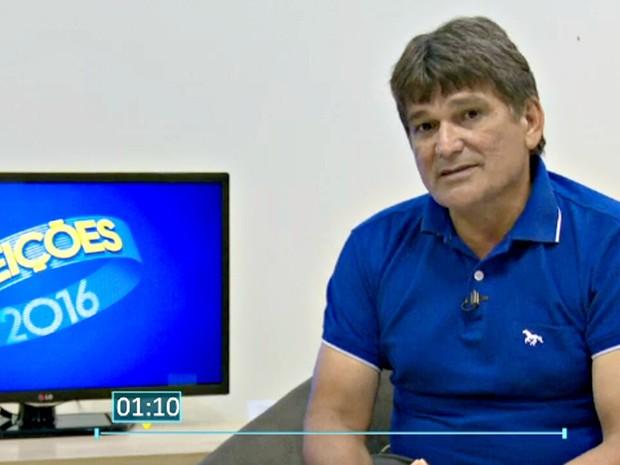 Henrique Afonso é o último candidato a prefeitura de Cruzeiro do Sul a ser entrevistado no Acre  (Foto: Reprodução/Rede Amazônica Acre)