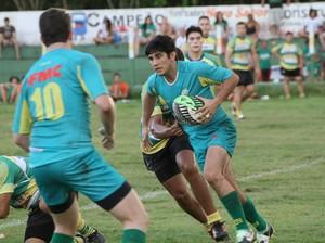 Primavera Rugby ficou em último no Pequi Nations (Foto: Michel Leplus/ Cuiabá Rugby)