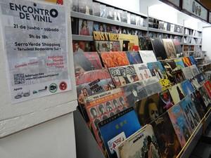 Diferentes discos estarão exposto no local (Foto: Sheila Santiago)