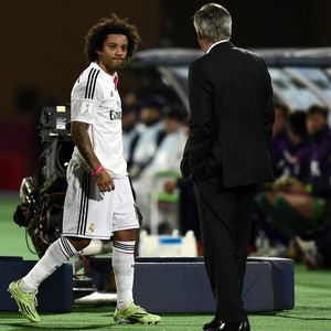 Marcelo, Real Madrid x São Lorenzo  (Foto: AFP)