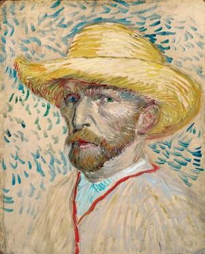 UMA DAS MIL FACES Van Gogh (1853-1890) em Autorretrato com chapéu de palha, óleo sobre tela de 1887 (Foto: Van Gogh Museum Amsterdam)