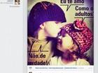 Caio Castro se declara para morena em rede social: 'Eu te amo'
