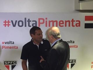Muller apoia o ex-presidente Pimenta, candidato da oposição do São Paulo (Foto: Marcelo Hazan)