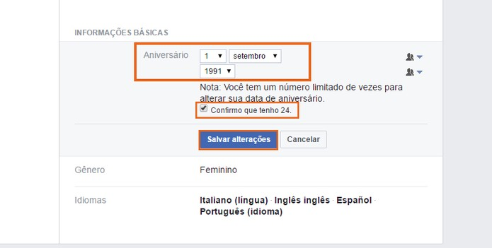 Faça as alterações e salve no perfil do Facebook (Foto: Reprodução/Barbara Mannara) (Foto: Faça as alterações e salve no perfil do Facebook (Foto: Reprodução/Barbara Mannara))
