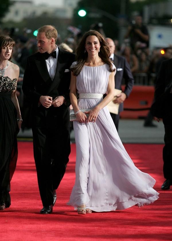 A princesa e seu look pastel de Sarah Burton, diretora criativa da Alexander McQueen (Foto: Getty Images )