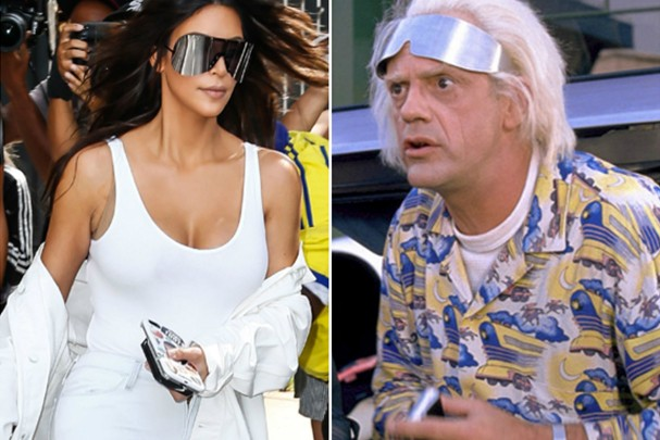 Kim Kardashian se inspirou em Emmett Brown? (Foto: AKM/Reprodução)
