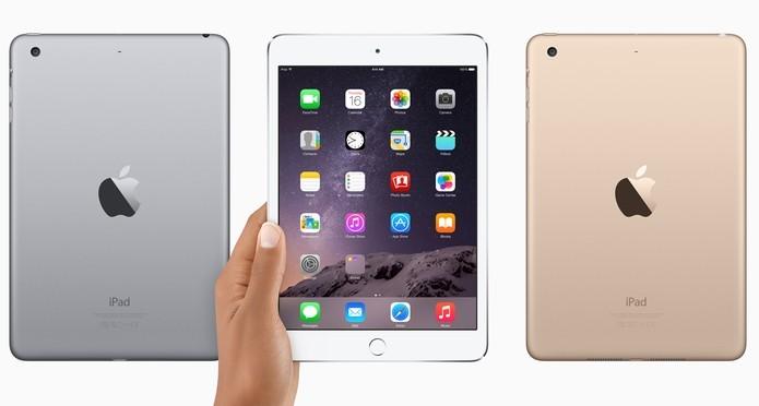 iPad mini 3 tem duas opções de cores (Divulgação/Apple)
