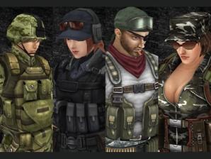 Os quatro personagens de Blackshot.